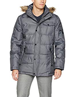 Nautica Men's Quilted Parka Jacket with Removable Faux Fur Hood Review