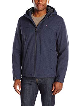 Tommy Hilfiger Men's Filled Soft Shell Hooded Open Bottom Jacket with Full Sherpa Lining Review