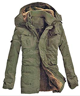 LD Mens Mid Long Hooded Fur Linen Jacket Quilted Coat Review