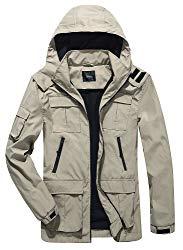 Yozai Men's Outdoor Sports Hooded Windproof Jacket Lightweight Waterproof Rain Jacket Review