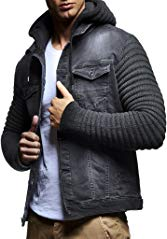 Leif Nelson LN5240 Men's Denim Jacket with Knitted Sleeves Review