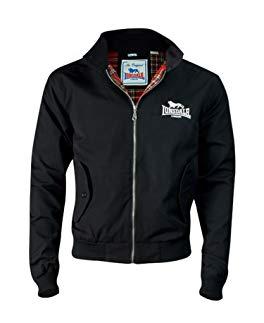 Lonsdale Men´s Slim-fit Embroided Logo Harrington Jacket Black Review