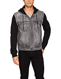 Calvin Klein Jeans Men's Mixed Media Hooded Trucker Jacket Review
